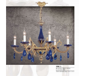 Riperlamp 370C 06.AA-AB-AE-AH-AM-AQ-AY-BG-BJ-BQ-CJ COBALT/BLACK CERAMIC AND DROPS