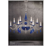 Riperlamp 370D 12.AA-AB-AE-AH-AM-AQ-AY-BG-BJ-BQ-CJ COBALT/BLACK CERAMIC AND DROPS