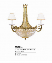 Riperlamp 354M 04.CA-CB-CX-JB ASFOUR,CREAM SHADE
