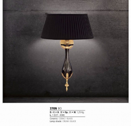 Riperlamp 370N 01.AA-AB-AE-AH-AM-AQ-AY-BG-BJ-BQ-CJ COBALT/BLACK CERAMIC,CREAM/BLACK SHADE
