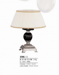 Riperlamp 370S 01.AA-AB-AE-AH-AM-AQ-AY-BG-BJ-BQ-CJ COBALT/BLACK CERAMIC,CREAM/BLACK SHADE